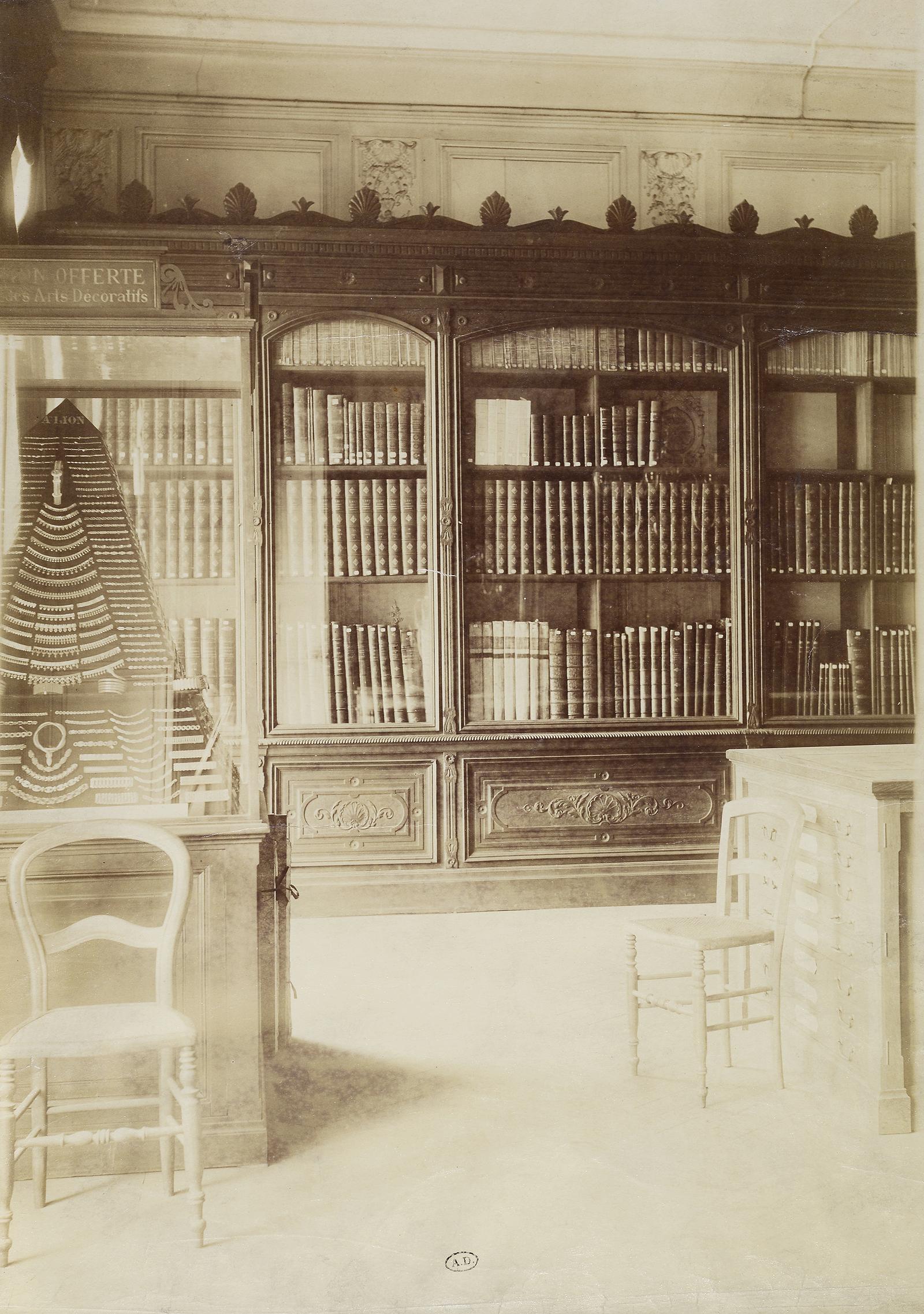 inv 7936 vue d une salle de la biblioth que de l union centrale place des vosges anonyme. Black Bedroom Furniture Sets. Home Design Ideas