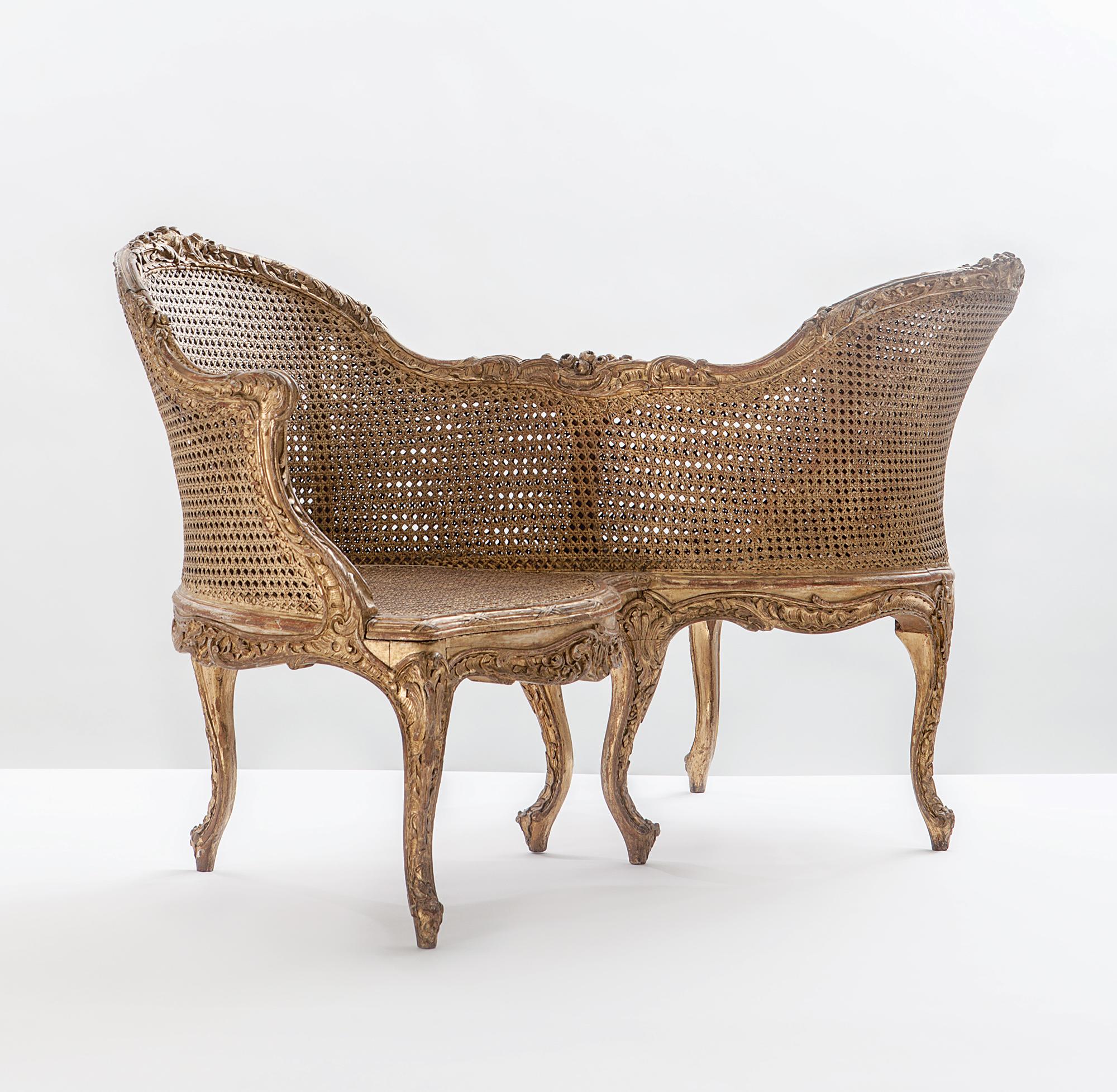 Confident au rouet d or paris tapissier a mini entre 1878 1889 - Fauteuil confident achat ...