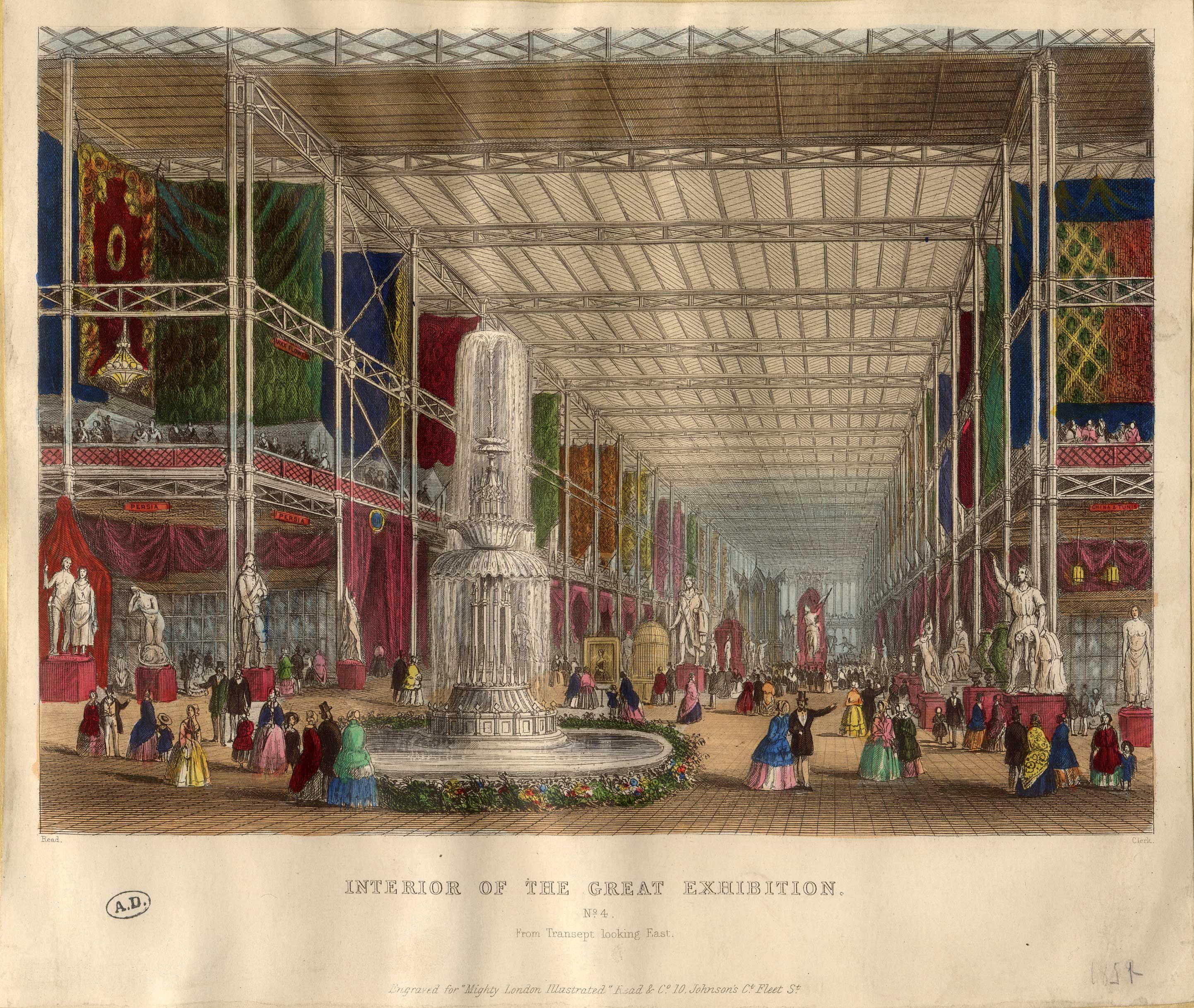 Gravure 1863 Exposition d/'horticulture de la rue de la chaussée d/'Antin